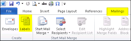 how to create a word mail merge template